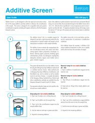 Additive Screen User Guide/Formulation/Scoring - Hampton Research