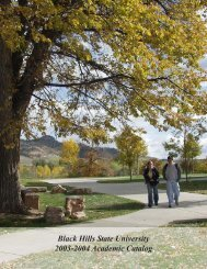 2003-2004 - Black Hills State University