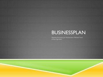 Businessplan eines Unternehmens
