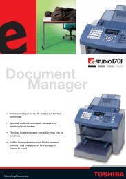 Document Manager - Toshiba Tec Nordic