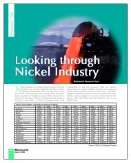 Looking through Nickel Industry - Metalworld.co.in