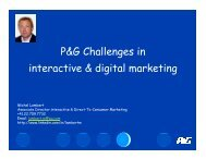 P&G Challenges in interactive & digital marketing - IAB Community