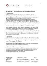 Ackrediterings –/ certifieringssystem inom hälso- och sjukvården