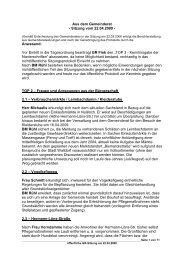 Protokoll vom 22.April.2009 - Nußloch