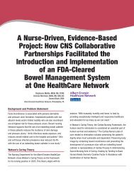 A Nurse-Driven, Evidence-Based Project - Hollister Incorporated