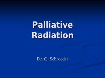 Palliative Radiation