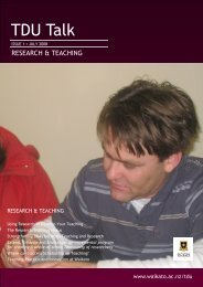 Research & Teaching - The University of Waikato