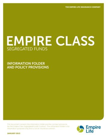 SEGREGATED FUNDS - Empire Life