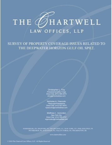 Chartwell attorneys author paper on property coverage issues
