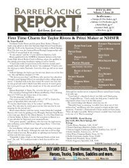 Download the Low Res Version - Barrel Racing Report