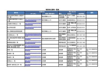 事業者名簿等一覧(PDF:252KB) - 山梨県