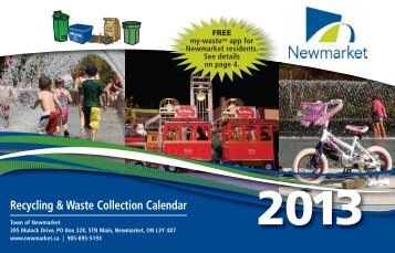 Recycling & Waste Collection Calendar - Town of Newmarket