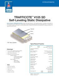 traffiCote™ #105 sD self-Leveling static Dissipative - Protective ...