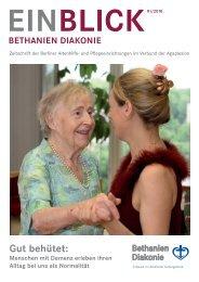 EINBLICK, Heft 1/2010 - AGAPLESION BETHANIEN DIAKONIE