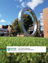 Program guide - Durham College