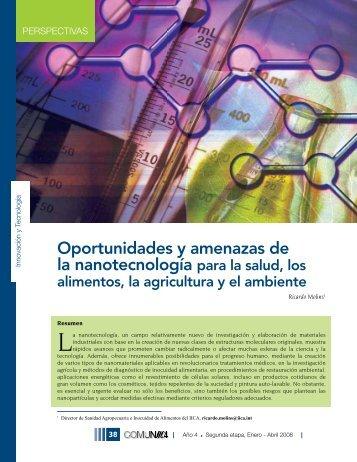 Oportunidades y amenazas de la nanotecnología para la salud, los