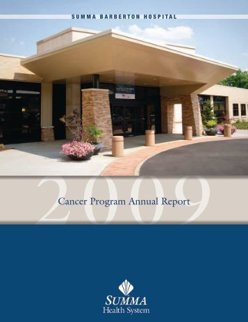 Read the 2009 Report - Summa Health System