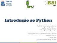 Aula 9 - Python