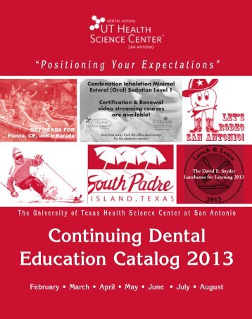 april 5 - Continuing Dental Education - The University of Texas ...