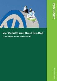 Vier Schritte zum Drei-Liter-Golf - Greenpeace