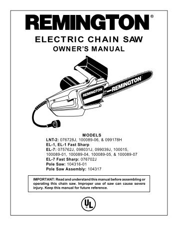 Electric chain saw ope operating chain saw remington electric chain saws greentooth Gallery