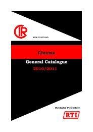 Cinema General Catalogue - RTI