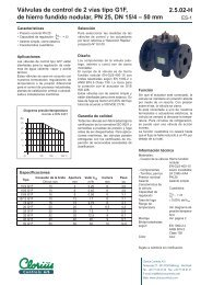 Válvulas de control de 2 vías tipo G1F, de hierro ... - Clorius Controls