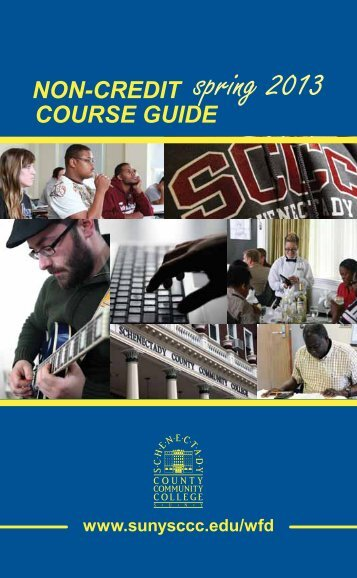 spring 2013 - Schenectady County Community College