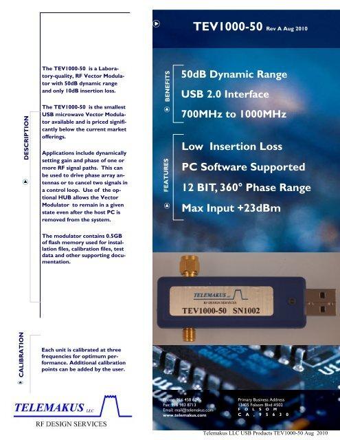 TEV1000-50 - RfMW