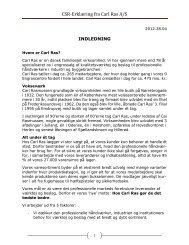 CSR-Erklæring fra Carl Ras A/S