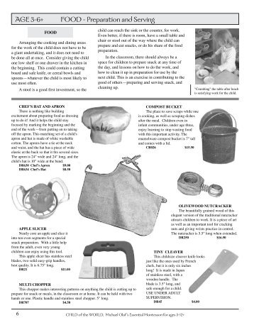 AGE 3-6+ FOOD - Michael Olaf Montessori Company