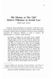 Volume 20 - RJJ Journal of Halacha and ... - YU Torah Online