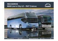 RECODRIVE MAN Lion's City LE – RAT Craiova - URTP