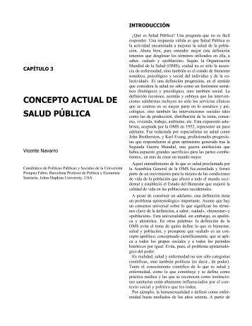 CONCEPTO ACTUAL DE SALUD PÚBLICA