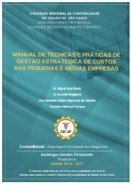 i MANUAL DE TÉCNICAS E PRÁTICAS DE GESTÃO ... - Crc SP
