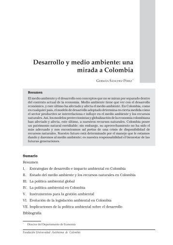 Desarrollo y medio ambiente - Universidad Autónoma de Colombia