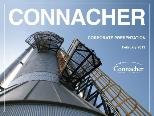 CORPORATE PRESENTATION - Connacher Oil and Gas