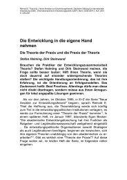 Die Entwicklung in die eigene Hand nehmen - Deutsche ...