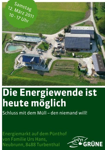 Die Energiewende ist heute möglich - Grüne Winterthur