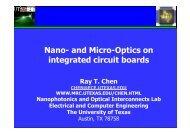 Nano- and Micro-Optics on integrated circuit boards - Optical ...