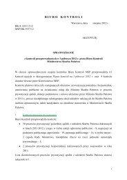 Sprawozdanie z kontroli przeprowadzonych w I półroczu 2012 r ...