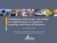 Fiskefaglige utfordringer ved vilkårs- og ... - Energi Norge