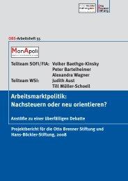 Arbeitsmarktpolitik: Nachsteuern oder neu orientieren?