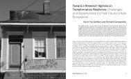 Toward a Research Agenda on Transformative ... - Tulane University