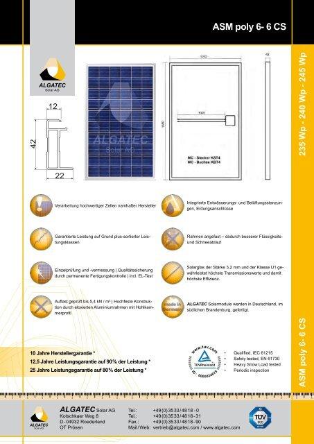 ASM poly 6-6 CS 235/240/245 - Activity Solar