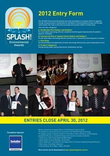 2012 Entry Form - Splash Magazine