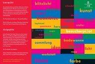 pi.lot-Seminare 2012 - Stiftung Pinakothek der Moderne
