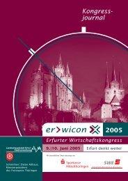 erwicon - Erfurter Wirtschaftskongress 2005 - Kongressjournal