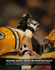 Packers Bye Week Release.indd - NFL.com