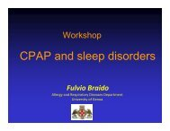 CPAP and sleep disorders - Braido - World Allergy Organization